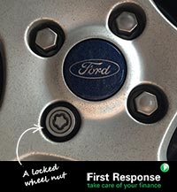First Response Finance explain locking wheel nuts