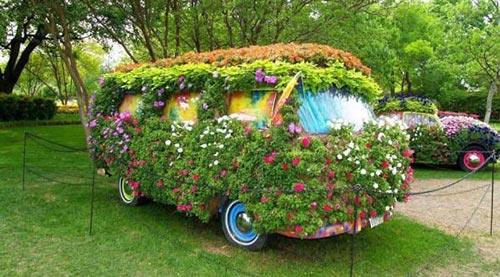 Turn an old vehicle into a new garden