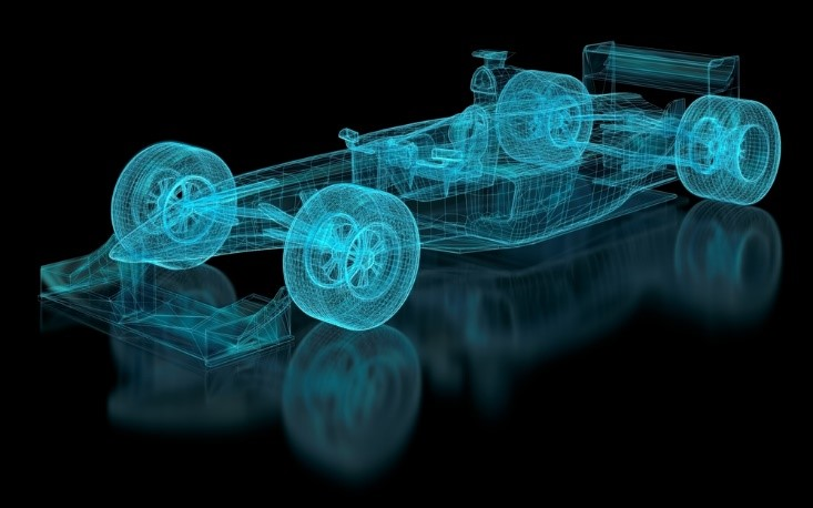 The aerodynamics of an F1 car