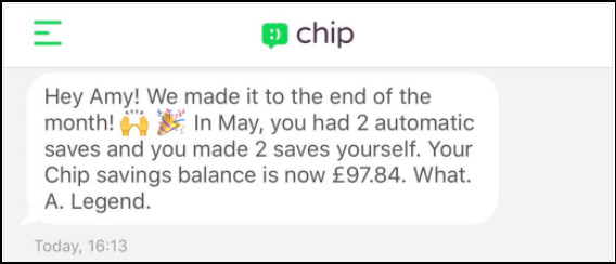 Chip saving app