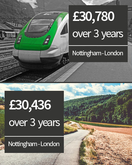 Nottingham to Paddington - train versus driving costs